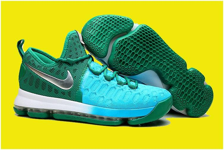 2016 Nike KD 9 Green Light Blue-Silver For Sale