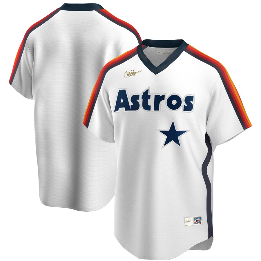 Men's Houston Astros Nike White Home Cooperstown Collection Player Jersey