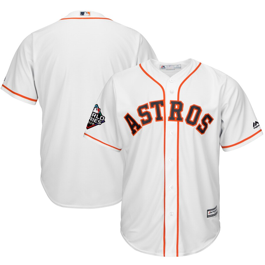 Men's Houston Astros White 2019 World Series Bound Official Cool Base Team Jersey